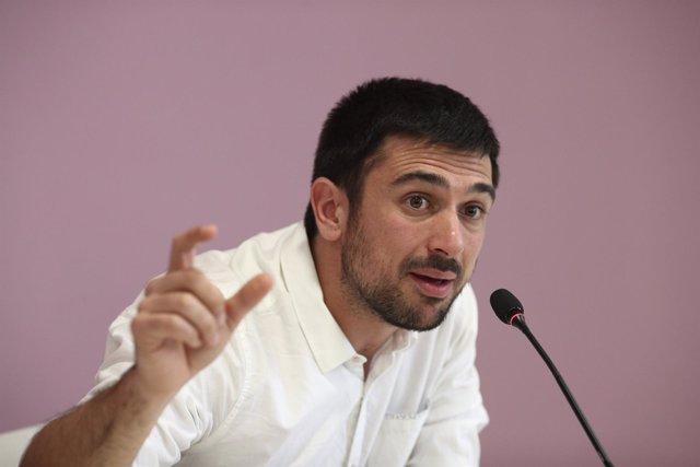 Rueda de prensa de Ramón Espinar
