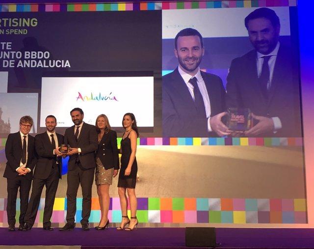 La Junta recoge un premio a la campaña de promoción turística de Andalucía