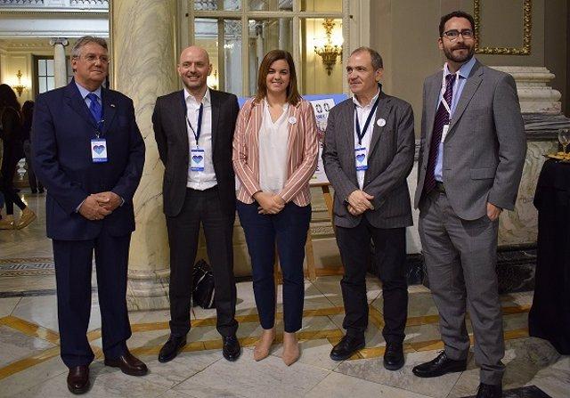 Representantes del grupo Air France-KLM y Turismo València