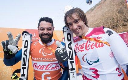 Santacana y Galindo recuperan la sonrisa con una plata en la supercombinada