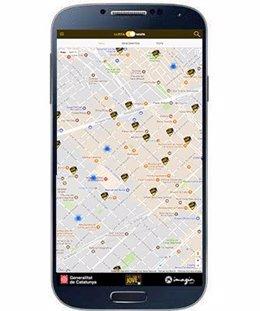 Servei de geolocalització de l 'app del Carnet Jove