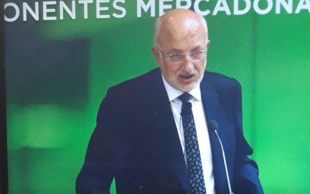 Juan Roig a la presentació de resultats de Mercadona de 2017
