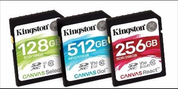 7. Kingston presenta las tarjetas de memoria 'flash' Canvas, con tres modelos compatibles con toda clase de dispositivo