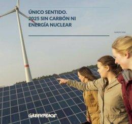 Greenpeace presenta su informe Único sentido: 2025 sin carbón ni energía nuclear