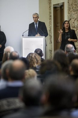 El conselleiro Francisco Conde participa en un acto de economía social