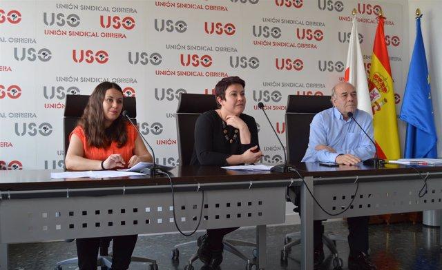 Rueda de prensa de USO para presentar un informe de pensiones