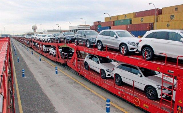 Servicio ferroviario de vehículos entre el Puerto de Barcelona y Alemania