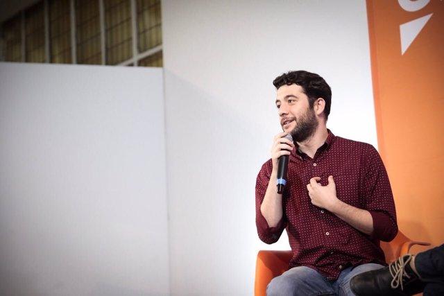 El portavoz y secretario de Organización de Cuidadanos en Madrid, César Zafra
