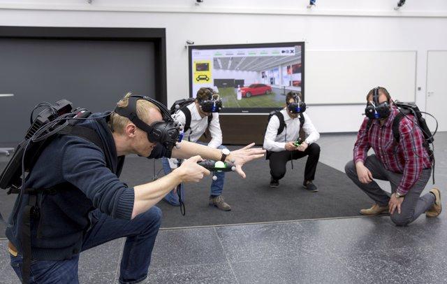 Holodeck de realidad virtual de Audi