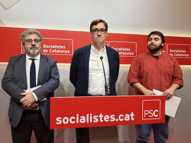 Josep Joan Moreso, Salvador Illa y Ferran Pedret, PSC