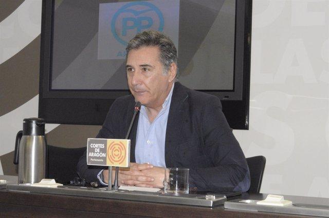 El diputado autonómico del PP Ricardo Oliván.