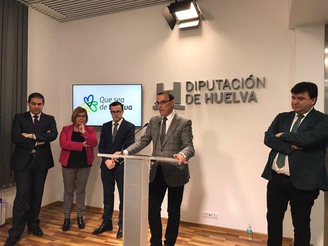 Caraballo, junto a Cruz, Gallardo, Cordero y José Luis Ramos.