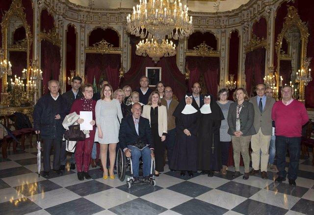 Acto de firma de concesión de subvenciones de la Diputación de Cádiz