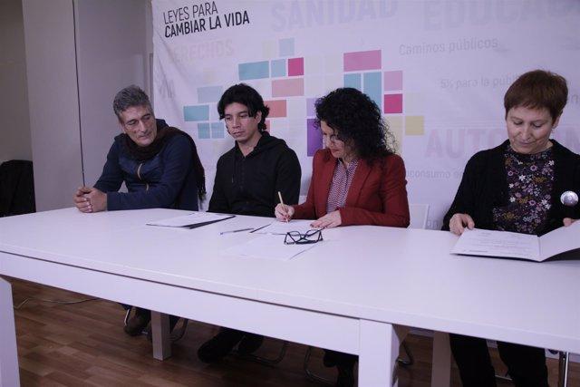 Maribel Mora, este martes, en rueda de prensa