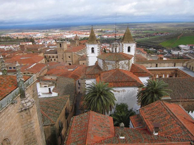 Vista de Cáceres desde la Torre de las Cigüeñas