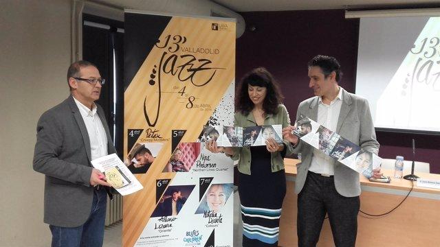 Juan Manuel Sanz (I), Ana Redondo (centro) y José Luis Gutiérrez (D). 13-3-18