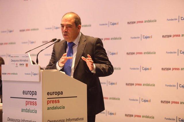 El presidente de ATA, Lorenzo Amor, en los Desayunos de Europa Press Andalucía