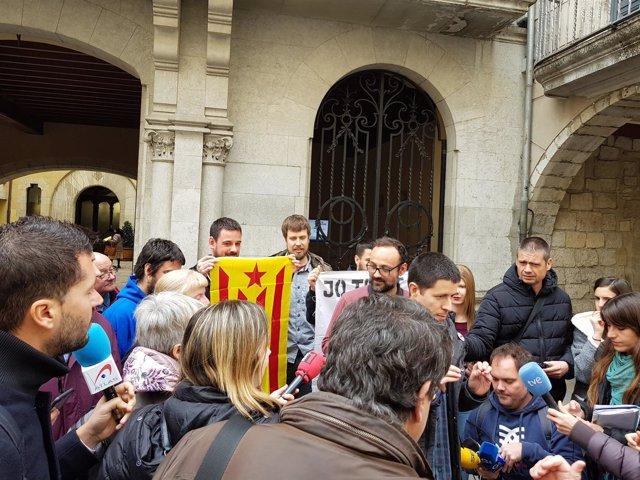 Benet Salellas y Martí Majoral atienden a los medios