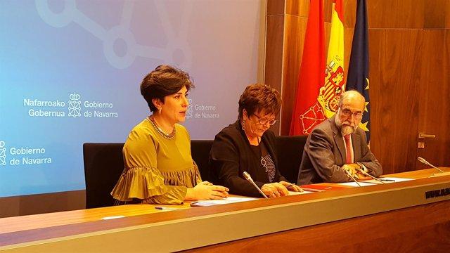 María Solana, María José Beaumont y Fernando Domínguez.