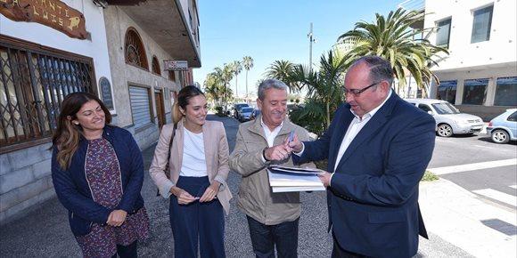 7. Invierten más de 400.000 euros en la segunda fase de la remodelación de la avenida principal de El Sauzal