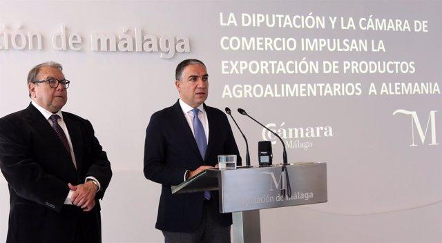 Bendodo con Jerónimo Perez Casero Camara de Comercio