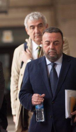 Jesús María Rodríguez Román, a su llegada al juicio de los ERE