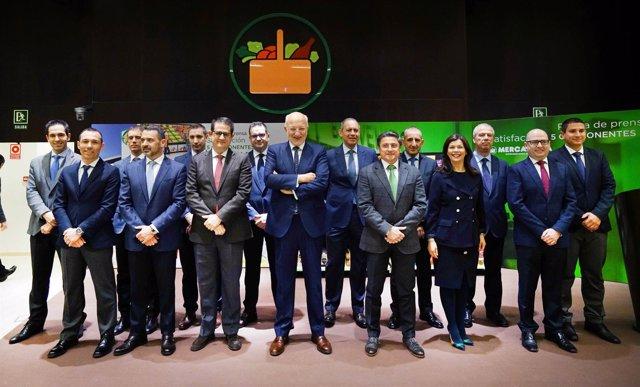 Juan Roig y miembros del Comité de Dirección de Mercadona