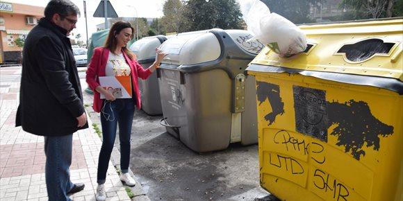 9. Cs propone a Diputación de Málaga sustituir contenedores de la calle por locales que concentren la recogida de residuos