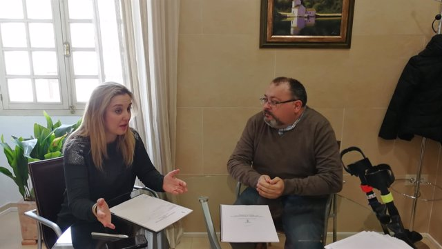La alcaldesa de la ciudad se ha reunido con el presidente de Alcalá Accesible.