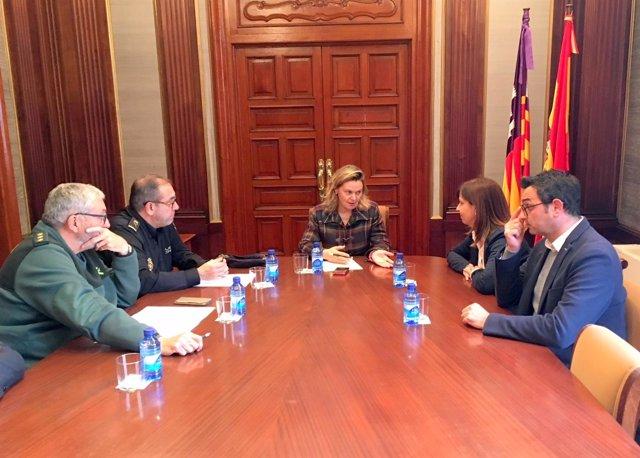 Maria Salom reunido con la alcaldesa de Manacor