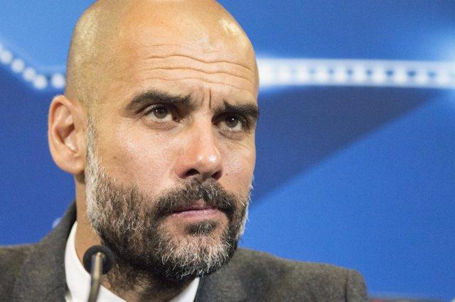 Pep Guardiola, Rueda de Prensa, Atlético de Madrid-Bayern de Múnich