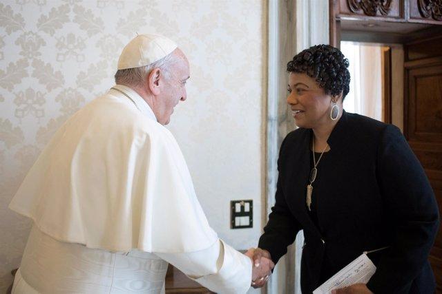 El Papa recibe a la hija de Martin Luther King