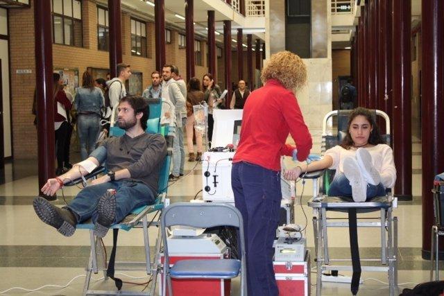 Colecta de sangre en la UAL