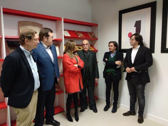 Inauguración de la fonoteca de la jota en la Biblioteca de Aragón.