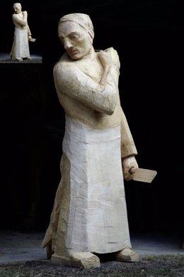 Una de las esculturas de la muestra de Leiro.