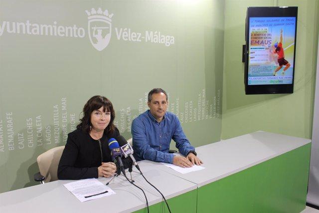 María José Roberto concejala de velez torneo de padel semana santa