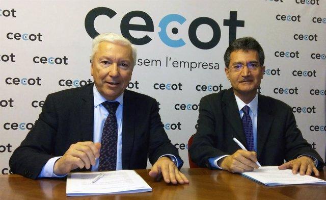 Antoni Abad (Cecot) y Xavier Tudela (CCC)