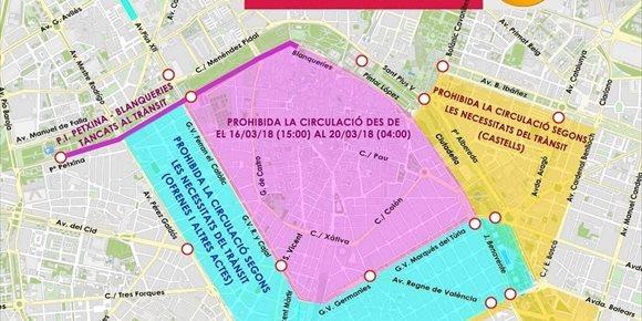 8. La circulación en el centro de la ciudad quedará prohibida desde este viernes hasta la madrugada del día 20