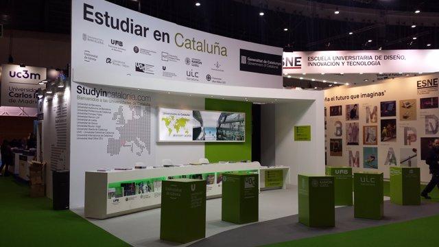 Estand del Consell Interuniversitari de Catalunya