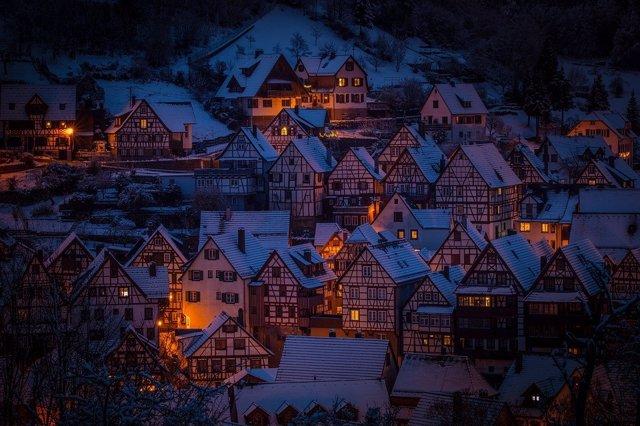 Casas iluminadas