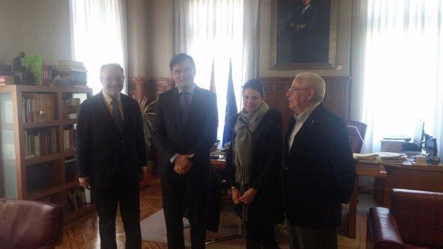 El presidente del Consejo Asturiano del Movimiento Europeo, Leopoldo Tolívar