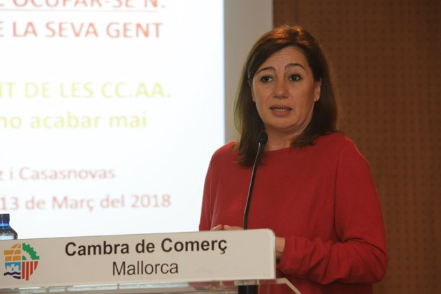 Armengol califica de 'dinámica' la economía de Baleares y critica que sea la comunidad que 'más aporta'