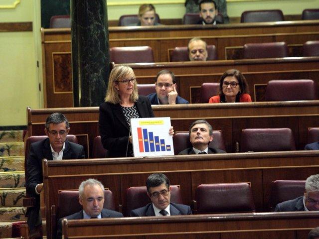 La diputada del PSC Mercè Perea, en el Congreso