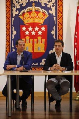 Albert Rivera e Ignacio Aguado en la Asamblea de Madrid