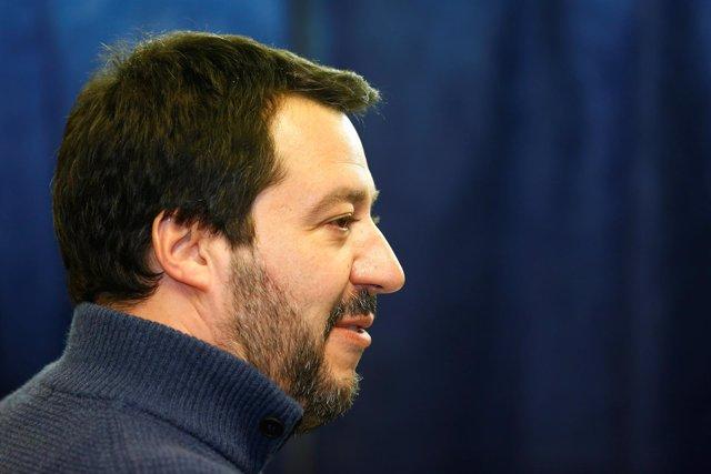 El líder del partido ultraderechista Liga, Matteo Salvini