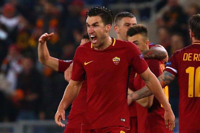 La Roma celebra el pase a cuartos de Champions