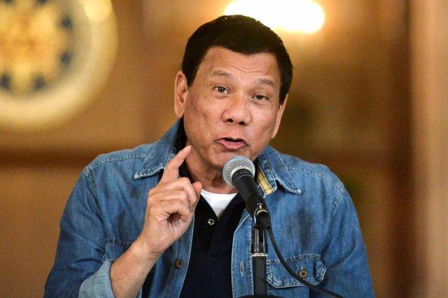 Duterte en una comparecencia en el palacio presidencial