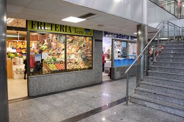 Mercado, tienda, frutería