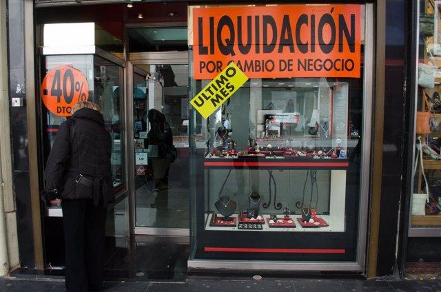 Liquidación, tiendas, tienda