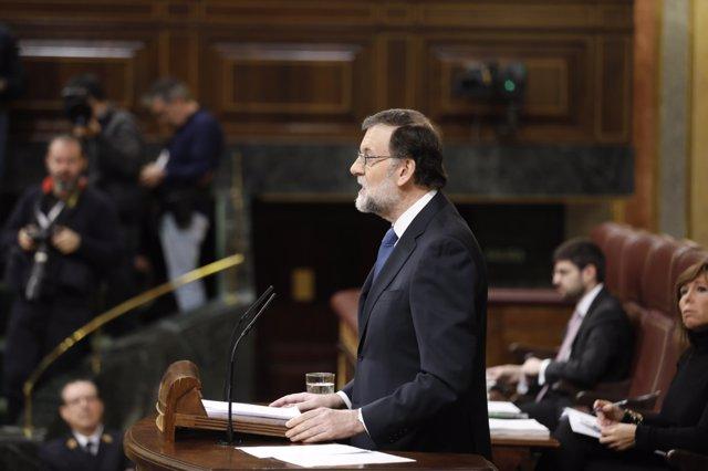 Rajoy interviene en el Pleno del Congreso sobre las pensiones